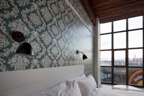 Dan Funderburgh's Cordage wallpaper at the Wythe Hotel