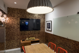 Get used to speaking in public with Crowd wallpaper in your conference room