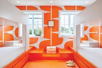 In one of her recent residential projects, Flavor Paper friend and collaborator, Ghislaine Viñas, designed the interior of a beautiful house in Montauk.  Several of the rooms are lined with our papers and they couldn't look better. Talk about fun!  Who wouldn't want to wake up in this cheery bedroom?! #freshsqueezed                                            Photo Credit: Garrett Rowland