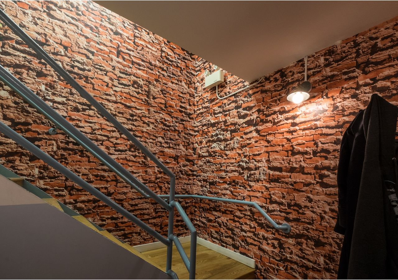 SOHO Brick looks extremely realistic in this top lit stairwell
