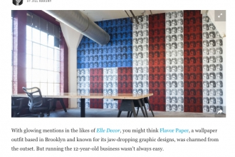 Esquire Feature on Flavor Paper Featuring Elvi and Marilyn Installs