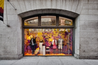 Cry Wolf makes the Brooklyn Industries windows pop!