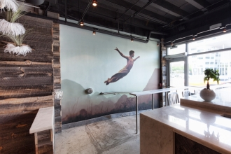 Leap of Faith depicts how you will feel light on your feet on your way out of jugofresh