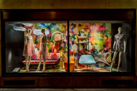 Cubenisimo living large in the 57th St Bergdorf  Goodman windows NY Design Week 2013